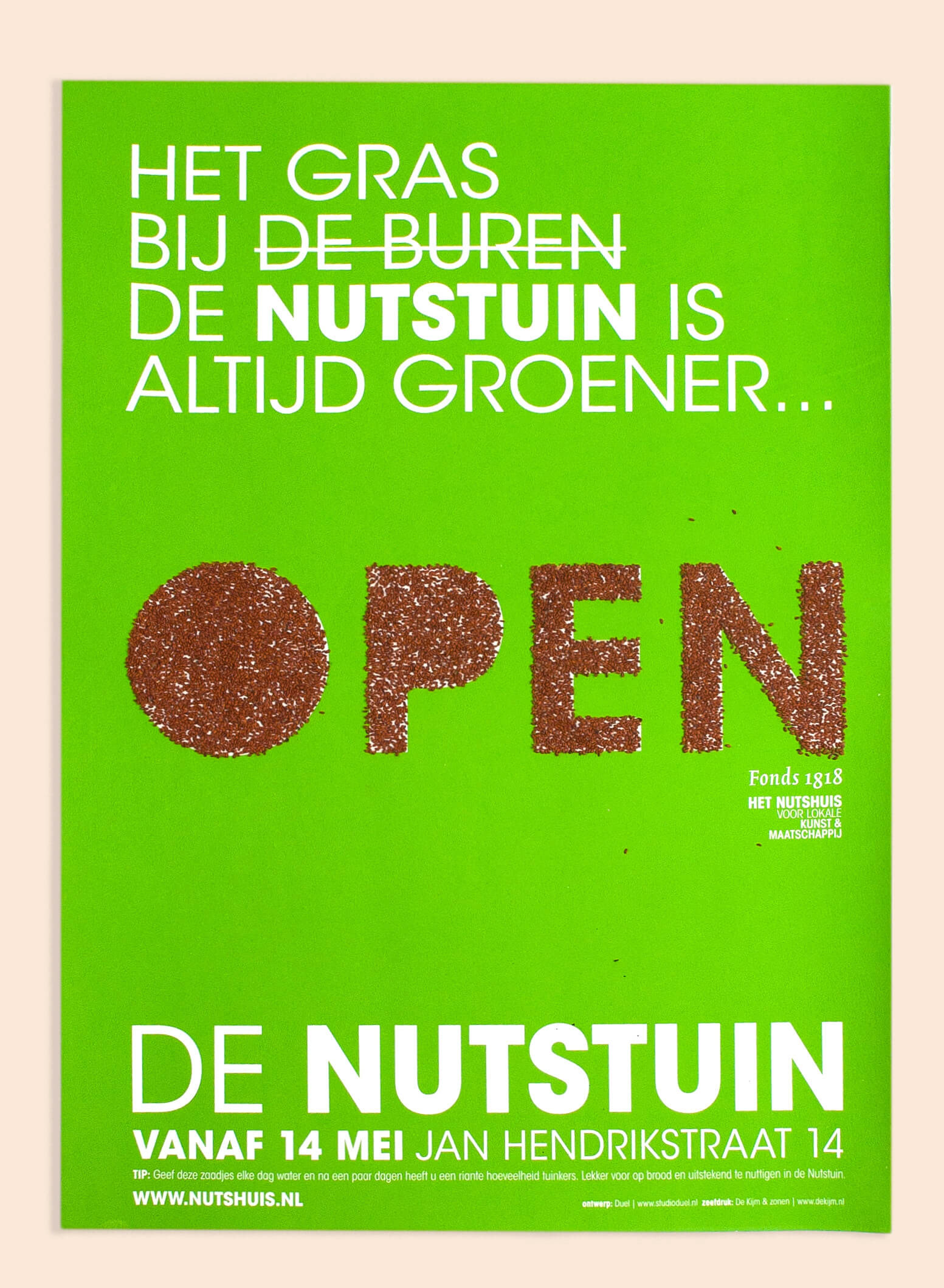 Nutshuis nutstuin campagne, Studio Duel