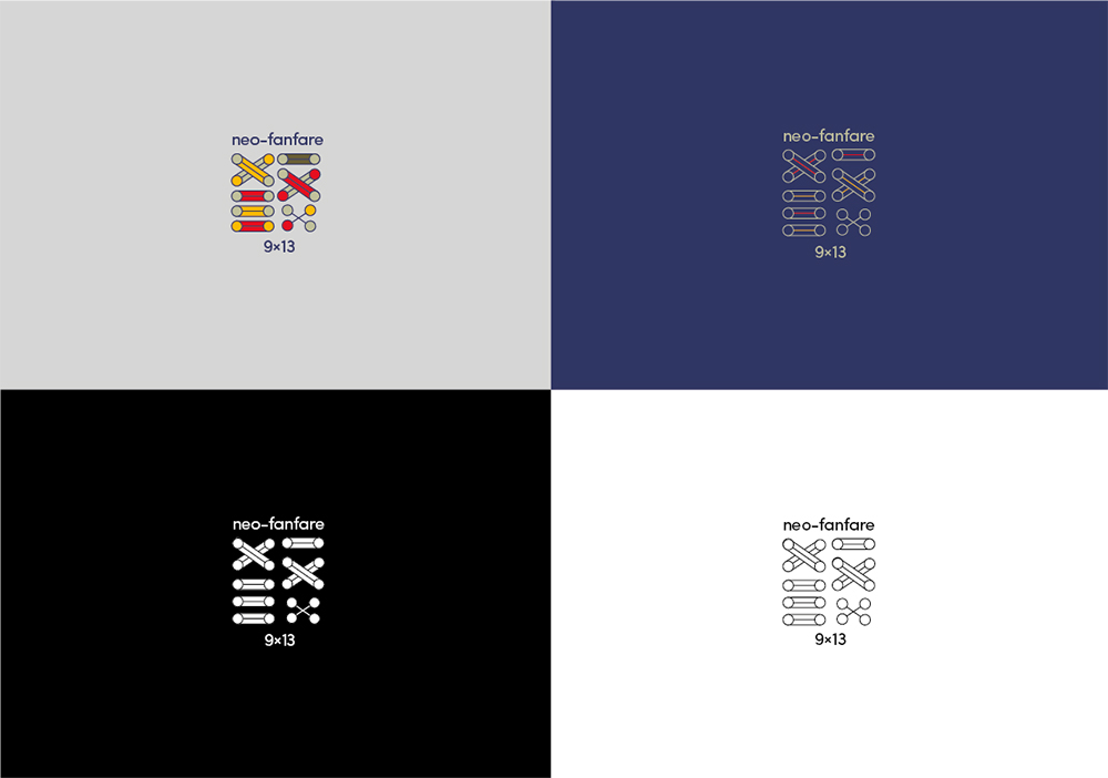 Neo-Fanfare logos, Studio duel