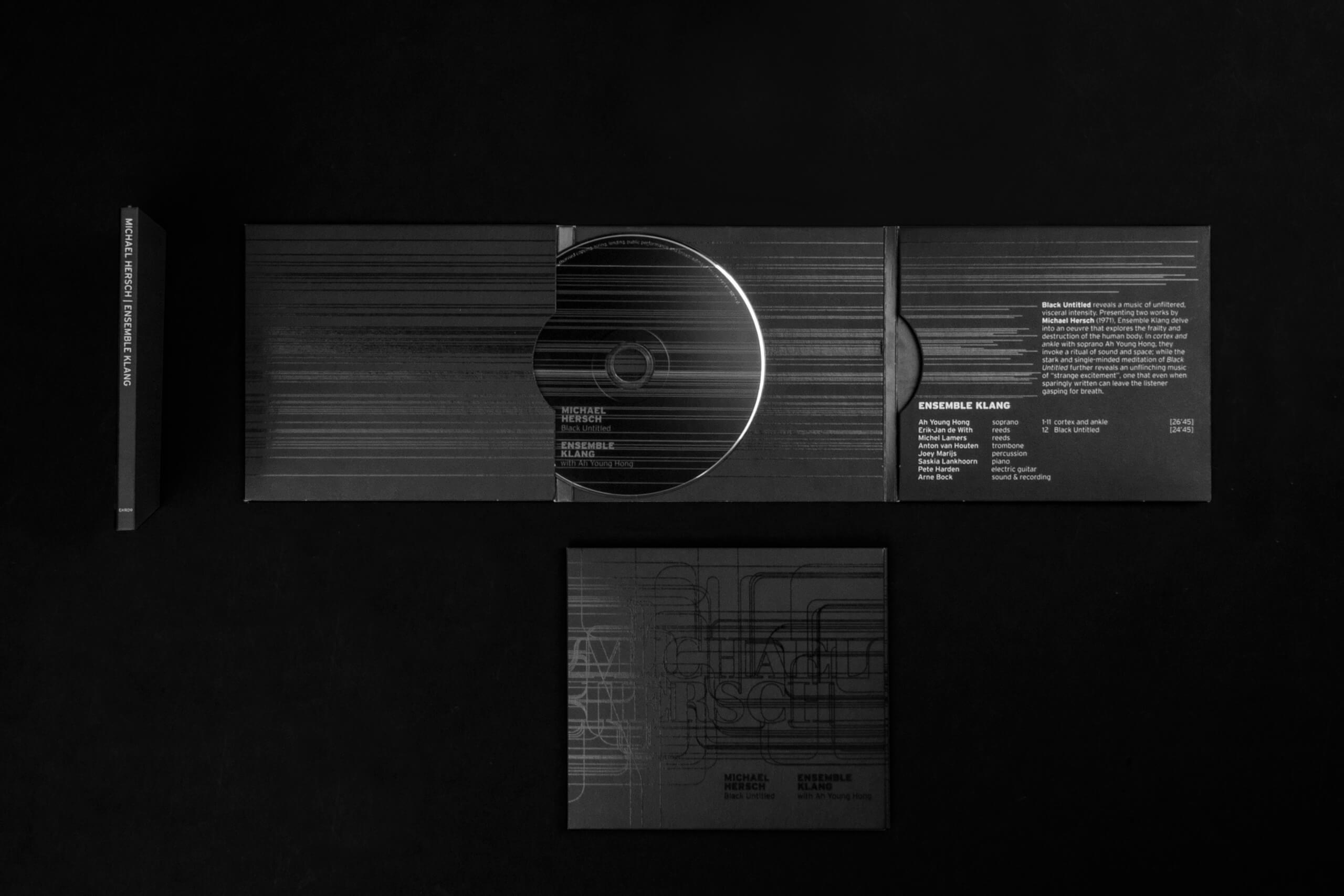 Klang, black on black, graphic Design, Studio Duel