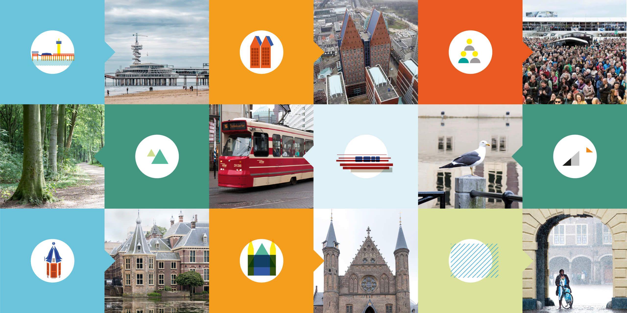 Iconen overzicht Platform Stad, Studio Duel