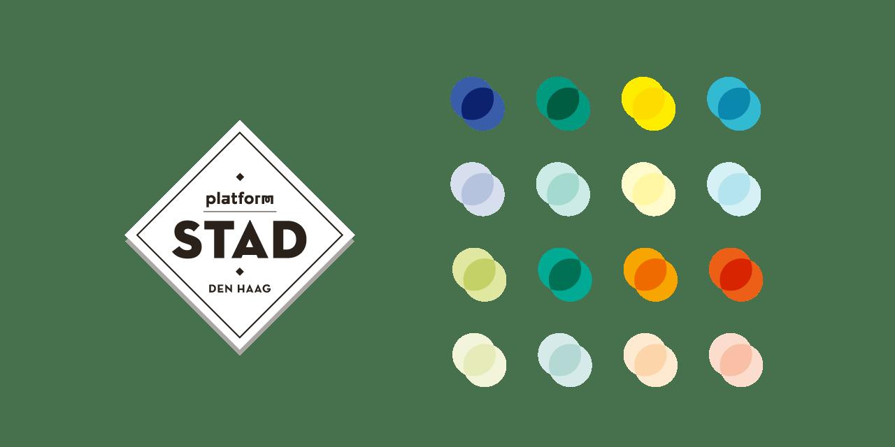 Logo en kleuren Platform Stad, Studio Duel