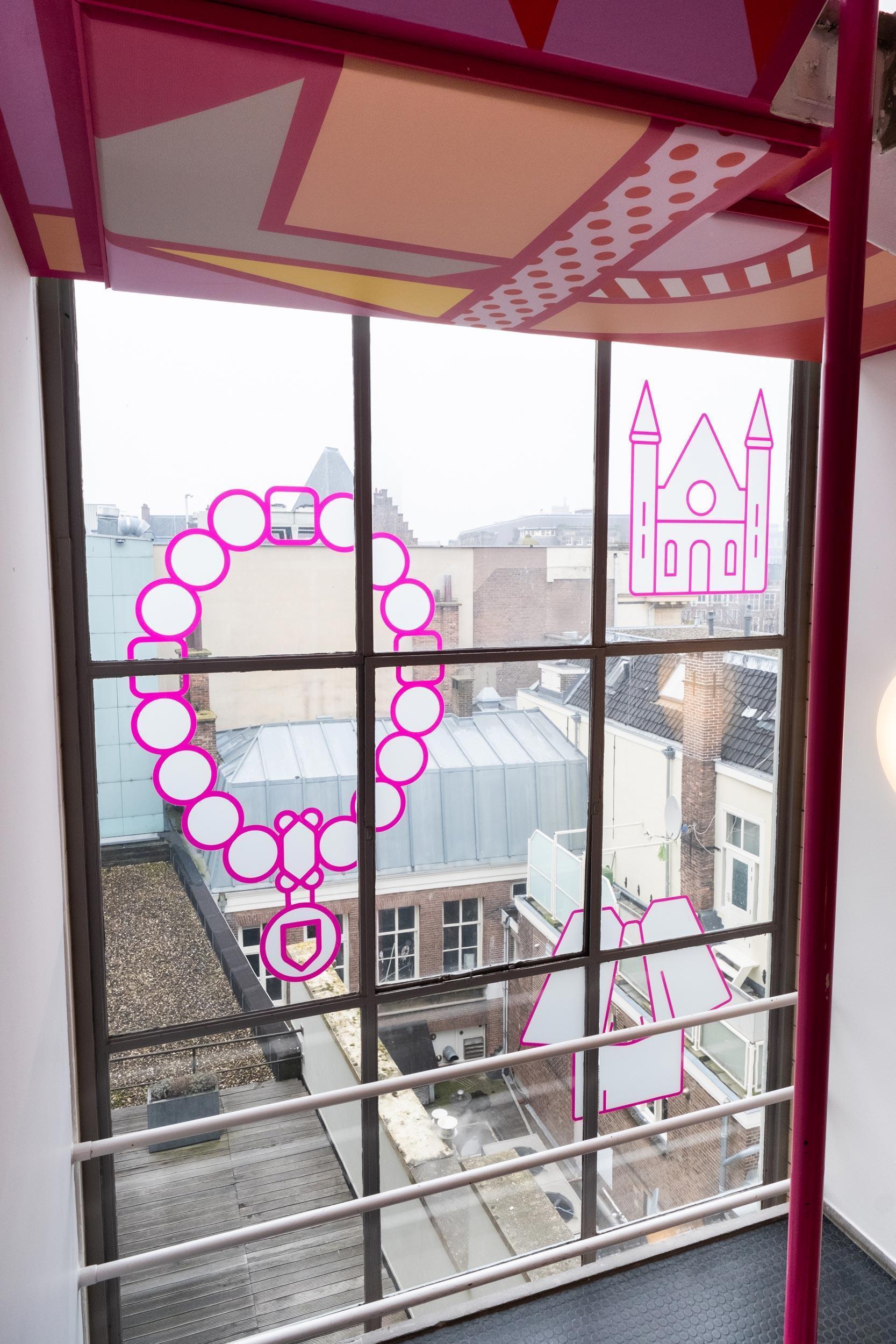 kleurrijk trappenhuis, prodemos, Studio Duel