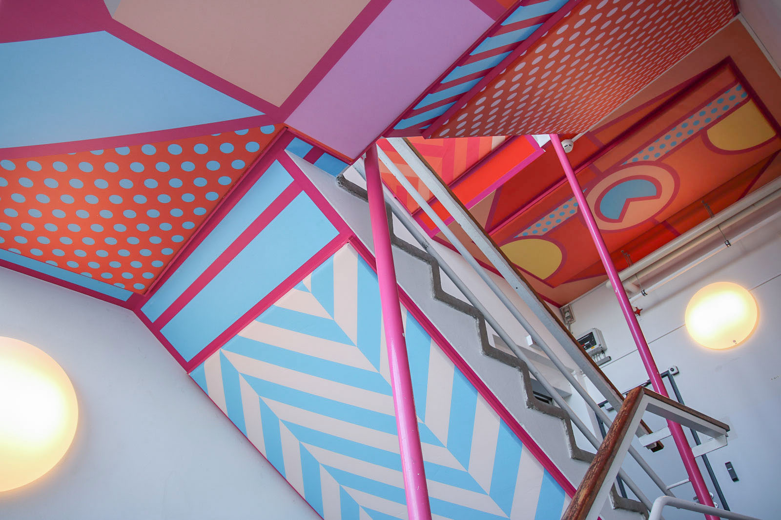 Most colorful staircase in the Netherlands