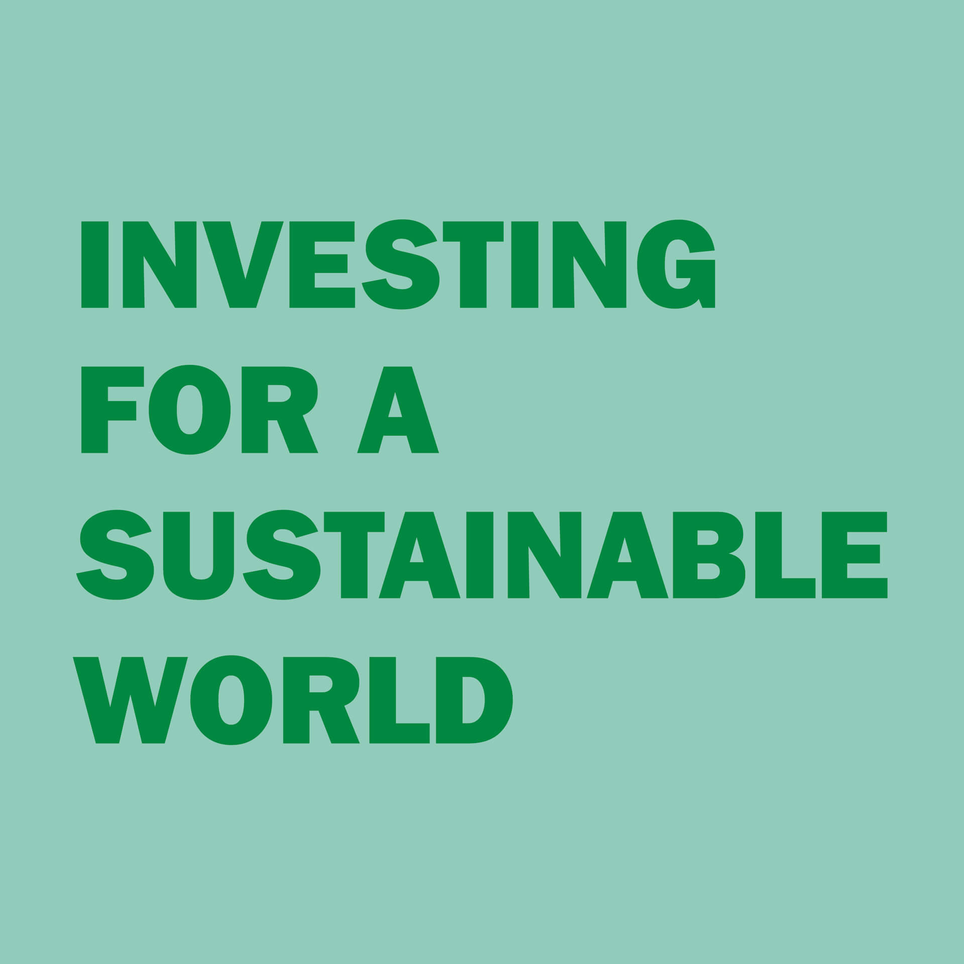 Investing for a sustainable world, studio duel